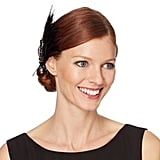 No. 1 Jenny Packham Designer Black Feather Art Deco Hair Clip