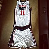 Kevin Love shared a snap of his Olympic uniform.  Source: Instagram user kevinlove7