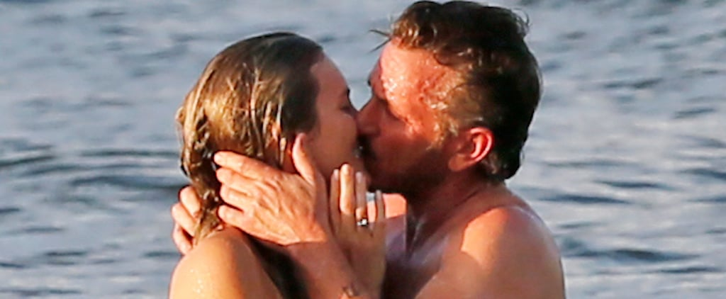 Sean Penn Kissing Leila George in Hawaii Pictures 2016
