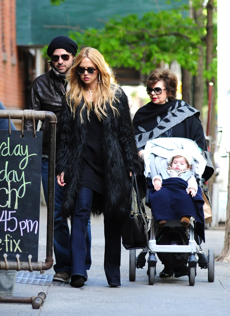 Rachel Zoe and Rodger Berman brought baby Skyler out for a walk through NYC.