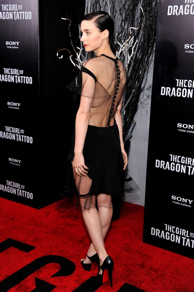 Rooney Mara showed off the sheer back of her Prabal Gurung dress.