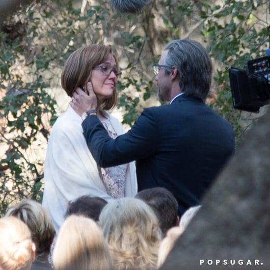Milo Ventimiglia Filming Wedding Scene on This Is Us