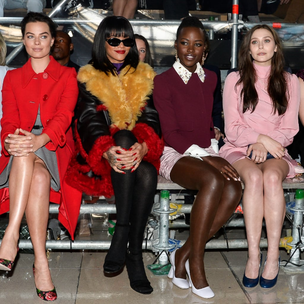 Fashion paris week front row celebrities fall pictures
