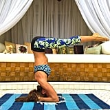 Eight days out from the Victoria's Secret Fashion Show Izabel Goulart keeps focused with an impressive right-angle.