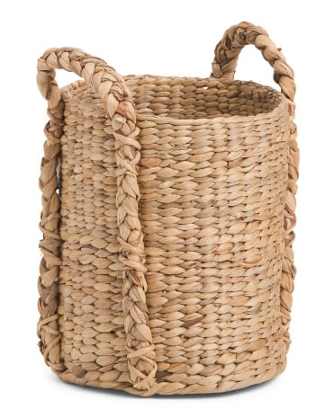 Small Round Water Hyacinth Basket ($15)