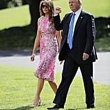 Melania Trump's Pink Monique Lhuillier Dress