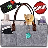 Amazon.com : Baby Diaper Caddy Organizer - Nursery Basket with Convenient Leather Handles Makes Perfect Baby Shower Gift - Durab