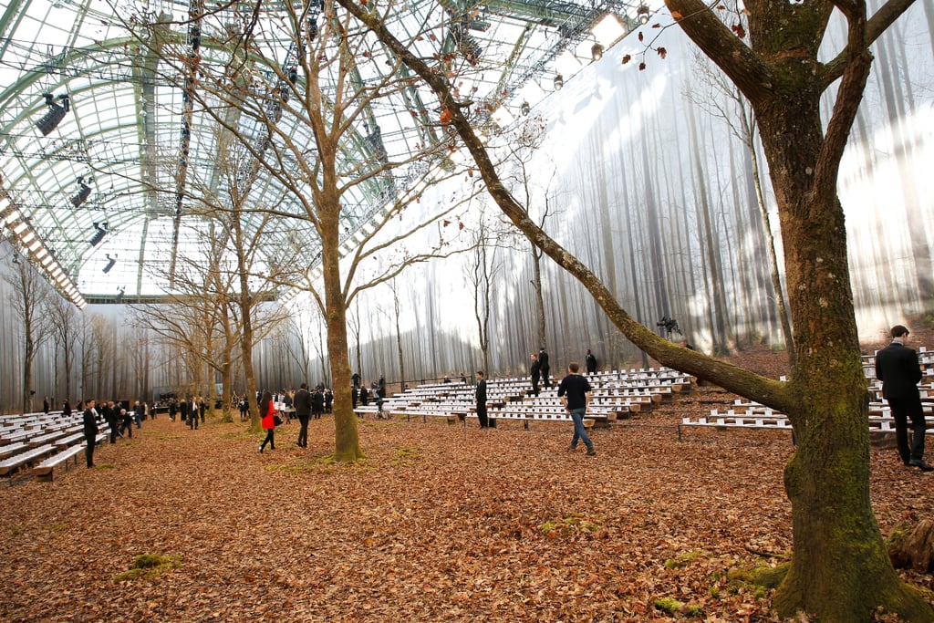 Karl Staged His Runway Show in an Enchanted Forest With Stadium Seating