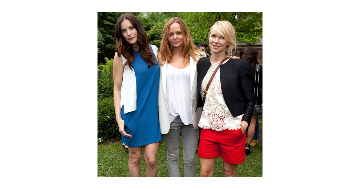naomi watts and liv tyler pictures at stella mccartneys