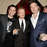 Ben Affleck met up with Jimmy Kimmel and David Spade backstage at the Guys Choice Awards.