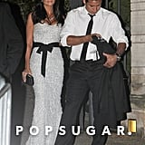 Mario Lopez and Courtney Mazza celebrated well into the night at Kim Kardashian and Kris Humphries's Montecito, CA, wedding in August 2011.