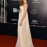 Jessica Chastain arrived at the Haiti: Carnival in Cannes event.