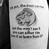 """Oh yes, the past can hurt, but the way I see it you can either run from it or learn from it."""