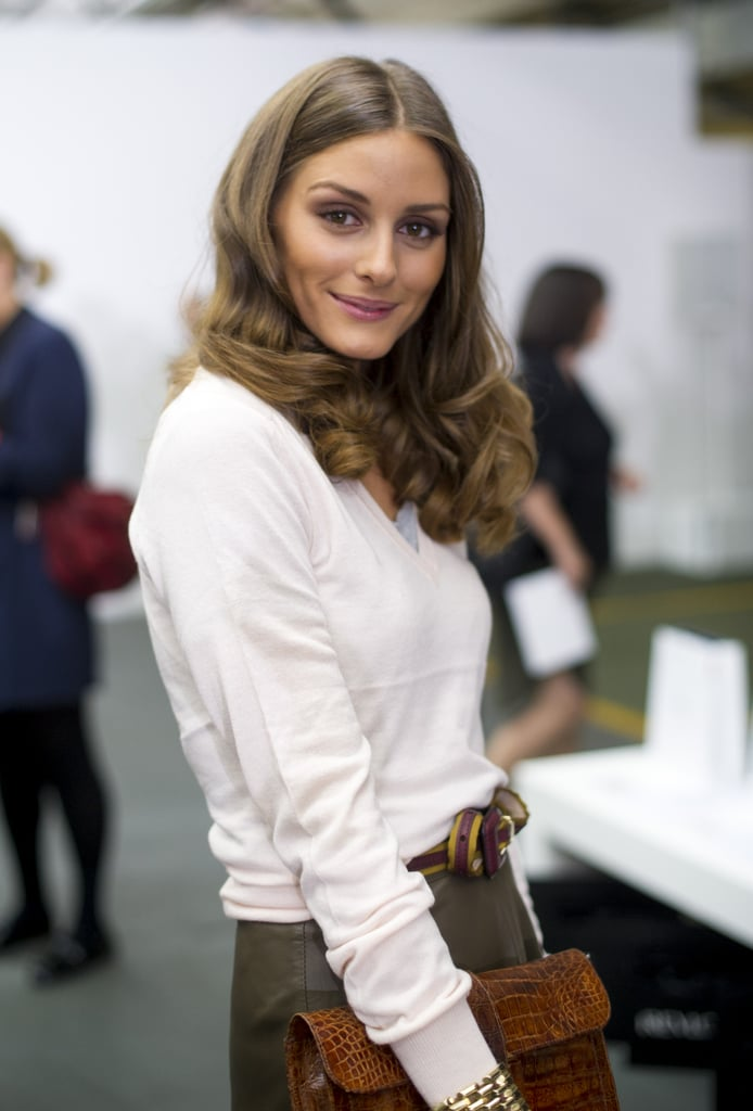 Olivia Palermo checked out the Antonio Berardi show at LFW.