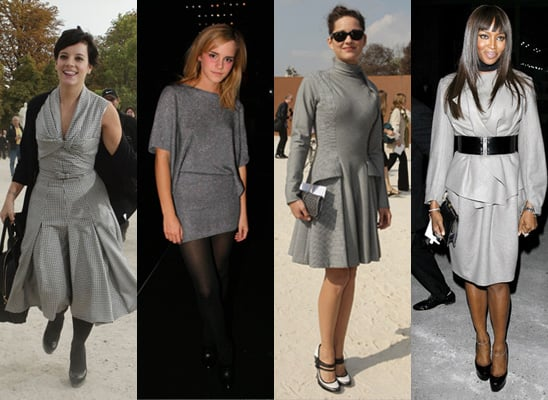 Trend Alert, Celeb Style, Grey, Paris Fashion Week, Spring 2009