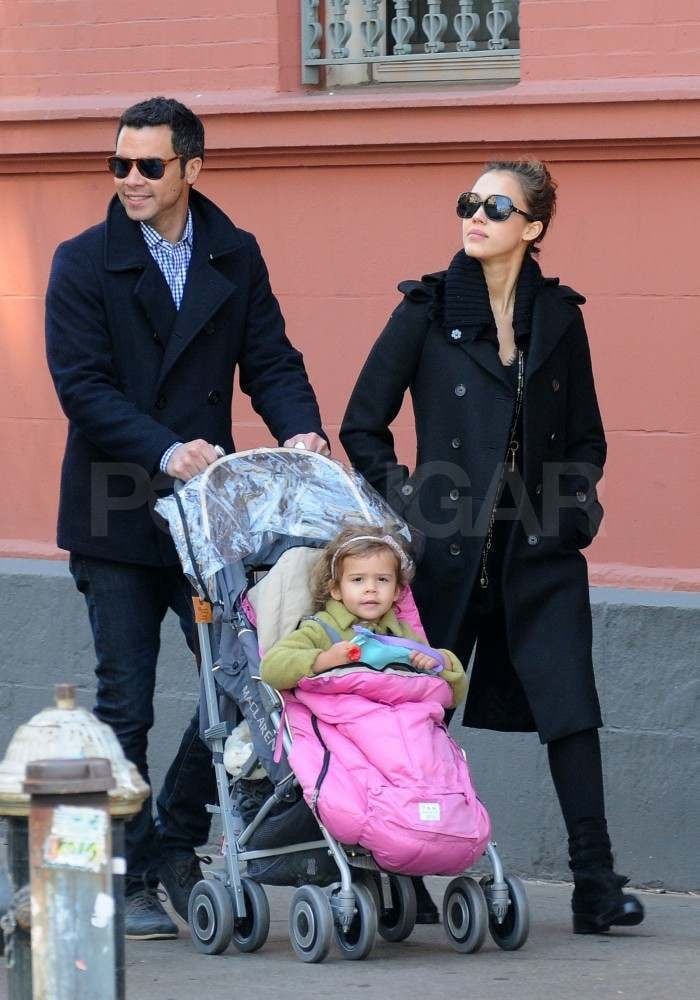 Jessica Alba and Cash Warren pushed Honor around NYC on Saturday. The family of three grabbed breakfast at Frankie's and then stopped by a park. Jessica and Cash also shared a sweet date at the NY Knicks vs. Cleveland Cavaliers basketball game, where they got cozy, greeted fans in their floor seats, and cheered on their pal Baron Davis on Friday night. Jessica and Honor have been enjoying the East Coast since arriving in Washington DC to participate in the Read Across America campaign last week. They headed to the Big Apple a few days later to join dad Cash. Make sure to click into the gallery to check out cute pictures of Cash and Jessica's courtside PDA and their adorable park trip with Honor!