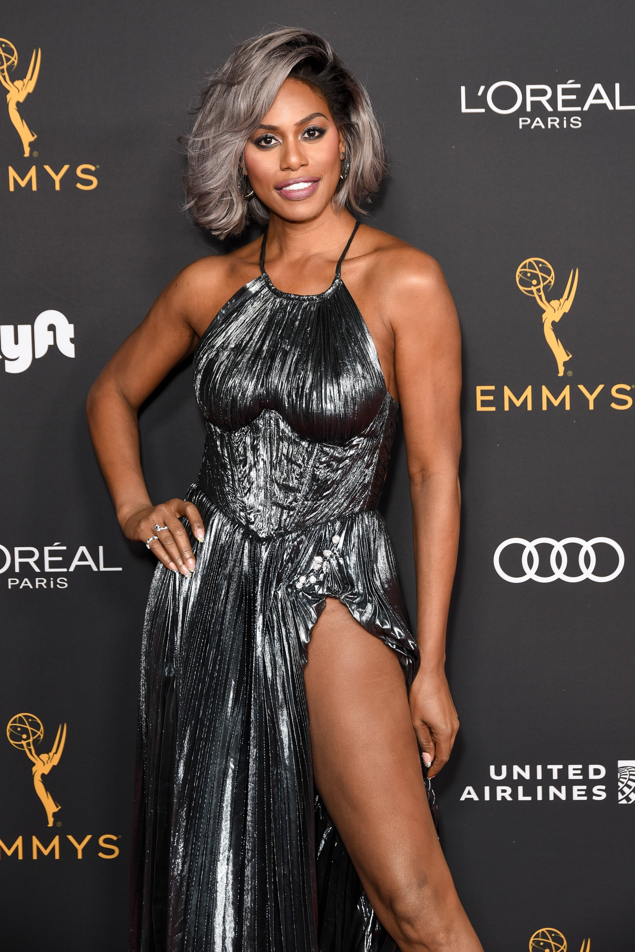 BEVERLY HILLS, CALIFORNIA - SEPTEMBER 20: Laverne Cox attends the Television Academy honours Emmy nominated performers at Wallis Annenberg Centre for the Performing Arts on September 20, 2019 in Beverly Hills, California. (Photo by Presley Ann/WireImage)