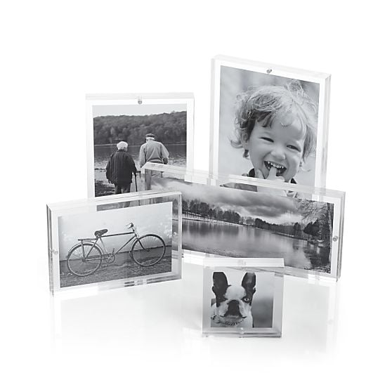 Crate and Barrel Acrylic Block Frames