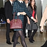 Taylor's bag will surely look great with all your holiday outfits . . .