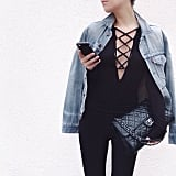 Lace-Up Bodysuit Trend