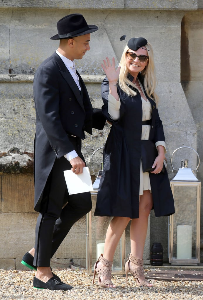 Emma Bunton and her partner, Jade Jones, were all smiles at Geri Halliwell's nuptials to Christian Horner in England in May 2015.