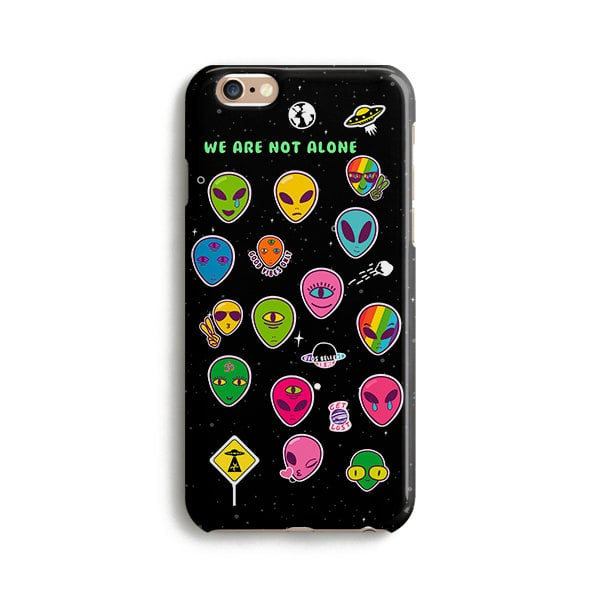 Aliens we are not alone iPhone Case ($17)