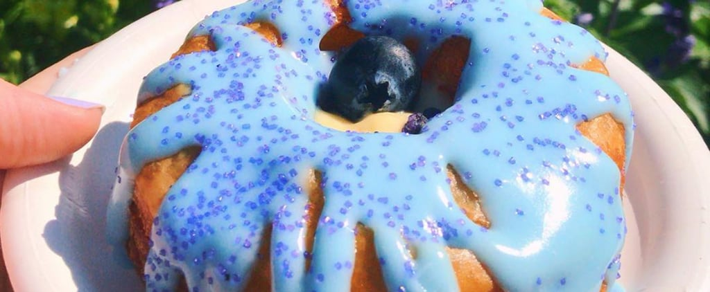 Disney World Epcot Violet Vanilla Blueberry Cronut