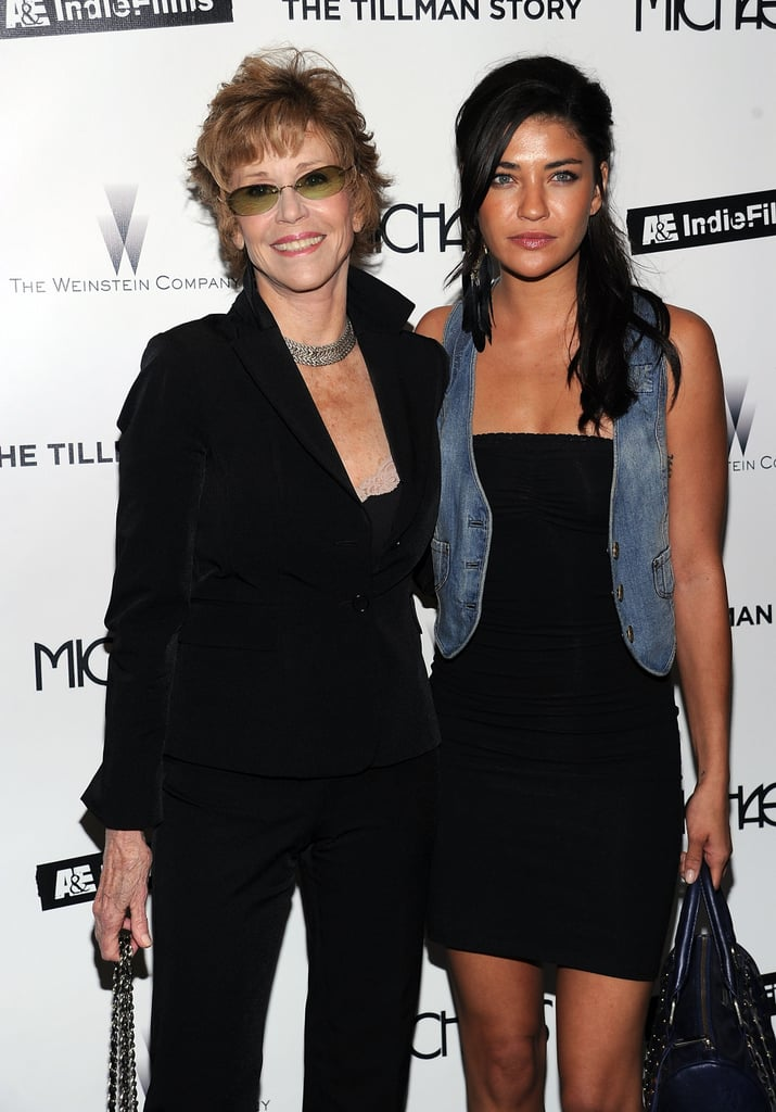 Jessica Szohr and Jane Fonda at the Premiere of The Tillman Story
