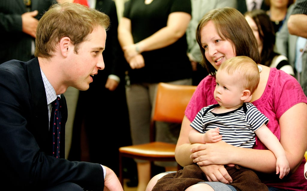 William spent time with a baby boy while visiting the Wellington Hospital's children's ward in New Zealand back in January 2010.