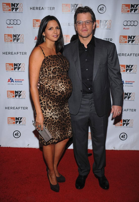 Pictures of Matt Damon and Pregnant Wife Luciana at Hereafter Premiere in NYC With Clint Eastwood and Bryce Dallas Howard