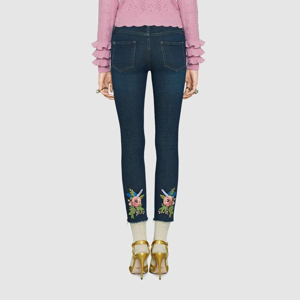 Fleur Jeans Skinny Brodé Gucci CCiSBcxhW3