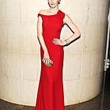 Hilary Rhoda wore Valentino at the New Yorkers For Children 10th Anniversary Spring Dinner Dance in New York. Photo: Billy Farrell/BFAnyc.com