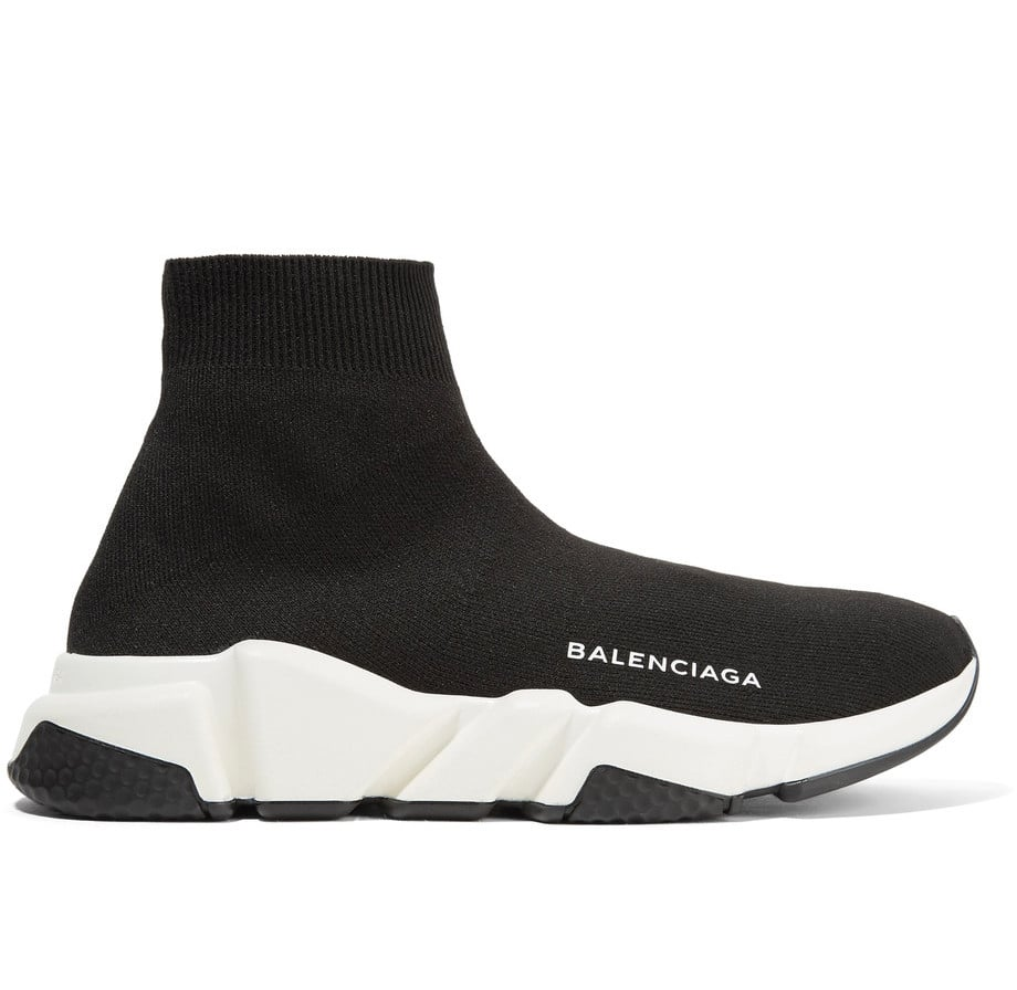 The style star's sneaker of choice, the Balenciaga Speed Runner Stretch-Knit High-Top ($595), is poised to be one of the It shoes of Fall 2017.