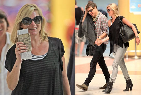 Photos of Kate Moss and Jamie Hince Leaving Thailand