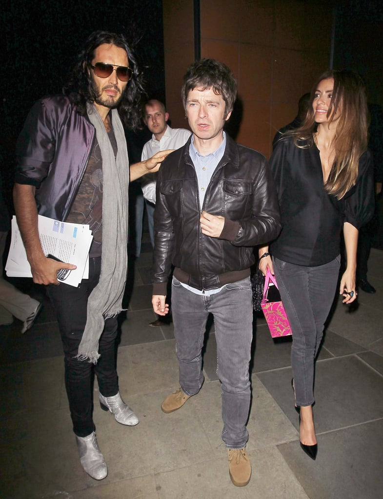 Pictures of Russell Brand and Noel Gallagher Out in London