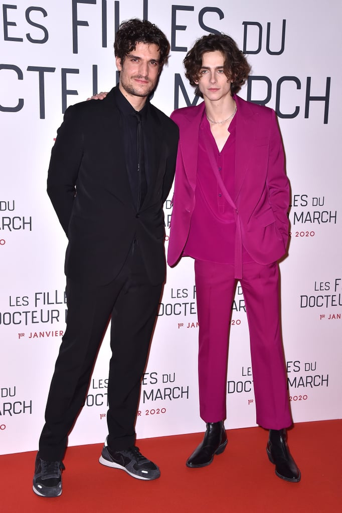 Louis Garrel and Timothée Chalamet at the Little Women Premiere in Paris