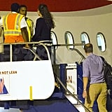 Prince William and Kate Middleton flew out of St. Lucia.