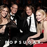 Rita Wilson, Tom Hanks, Keith Urban, and Nicole Kidman at the 2020 Golden Globes