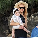 Rachel Zoe and Skyler Berman hit the beach for another round of sunbathing.