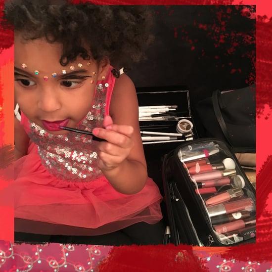 Blue Ivy Carter Applying Makeup