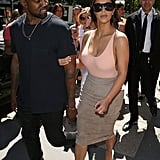 Ahead of their wedding, Kim and Kanye went shopping on Paris's Avenue Montaigne.