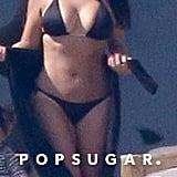 Surprisingly, Kim Kardashian Managed to Keep Her Latest Bikini Trip SFW