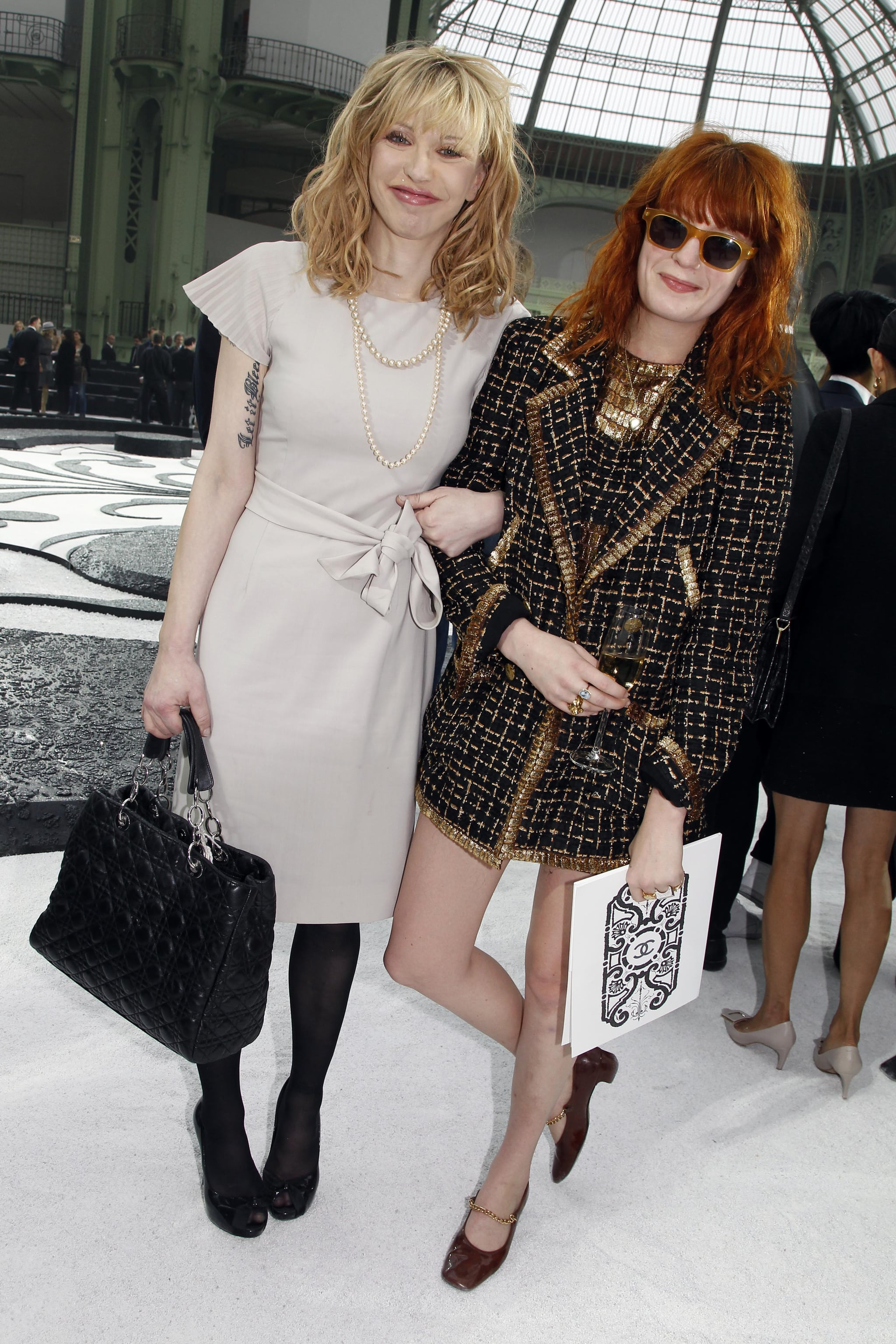 Florence Welch and Courntey Love
