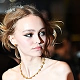 Lily-Rose Depp Matched Her Gold Eye Shadow to Her Jewelry Set