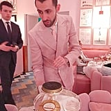 "Speaking of impeccable service. There's, no joke, a ""Caviar Man,"" who comes to your table — in a pink suit, no less — and educates you on the caviar you're about to consume (where it comes from, the flavor profile, etc.) in addition to some pro tips for how to eat it and in what order."
