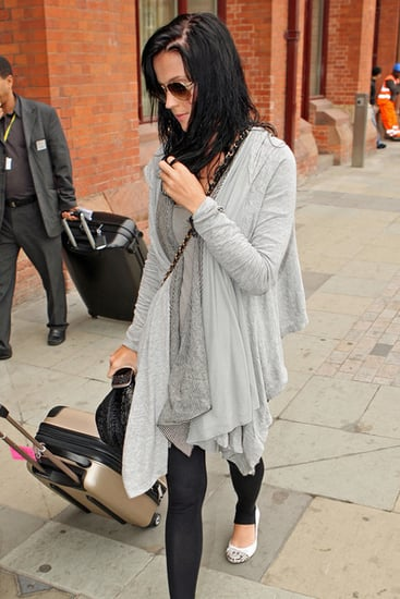 Katy Perry and Russell Brand spotted leaving his house in London on their way to Paris