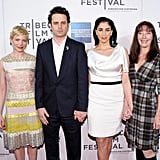 Michelle Williams, Sarah Silverman and Luke Kirby posed together at the Tribeca Film Festival.