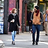 Emma and Andrew shared a laugh while strolling through New York City's West Village in October 2014.
