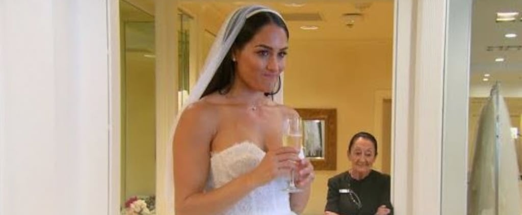 Nikki Bella Trying on Wedding Dresses on Total Bellas Video