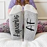 Zodiac Sign Aquarius AF Socks
